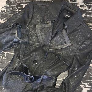 bebe Jacket with Leather & Metallic Accents